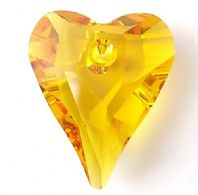 Sunflower 17mm 6240 Swarovski Wild Heart Pendant